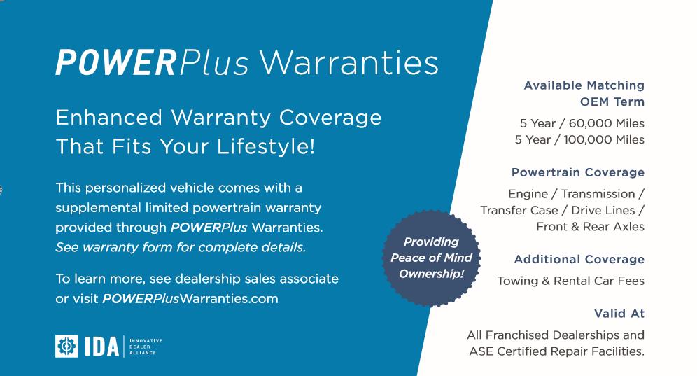 Powertrain Warranty Coverage >> Consumer Information Innovative Dealer Alliance